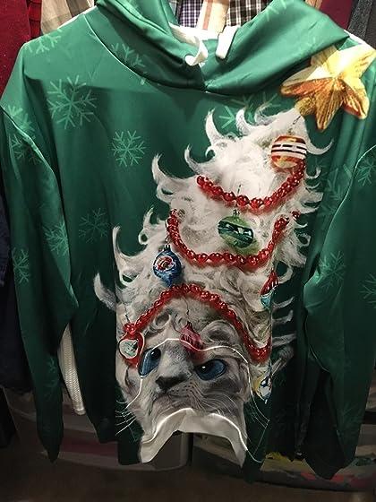 Cfanny Couple Cute 3D Santa Print Ugly Christmas Kangaroo Pocket Sweatshirt Hoodies Pullover Festive!