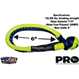 Gator-Jaw 176745PRO Synthetic Soft Shackle (52,300LB Breaking Strength) Blue & Yellow