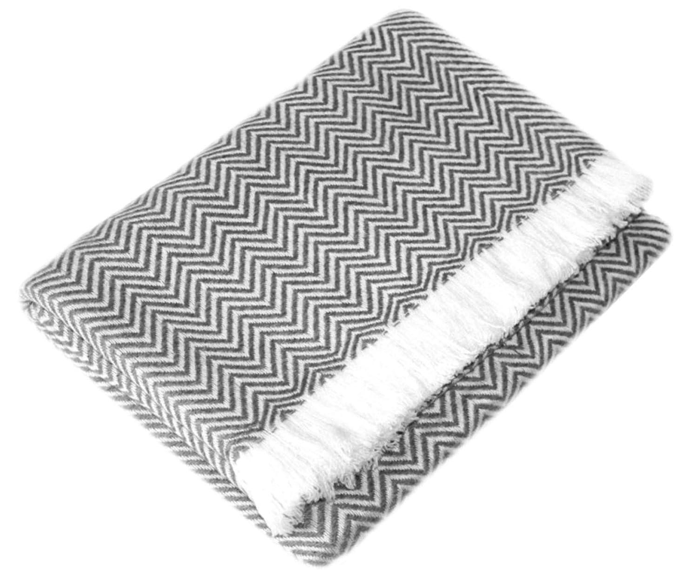 Lorenzo Cana Kaschmir Decke grau Wohndecke 100% Kaschmir handgewebte Sofadecke Kaschmirdecke Wohndecke Kuscheldecke Umschlagtuch 96277777