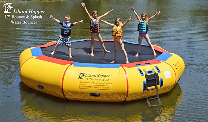 Island Hopper 17' Water Bouncer - Best Water Trampoline