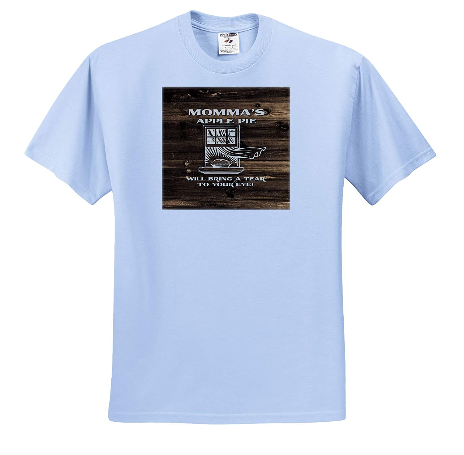 T-Shirts Mommas Apple Pie Will Bring a Tear to Your Eye 3dRose Russ Billington Designs not Real Wood