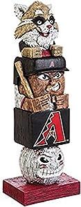 "Rico Industries, Inc. Diamondbacks Tiki Totem Pole 16"" Home Outdoor Garden Statue Decoration Baseball"