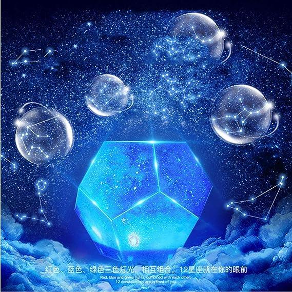 JAY-LONG Luz De Noche LED, Doce Constelaciones Creativas ...