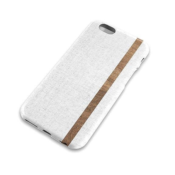 White Linen Wood Stripe Iphone Case Distressed Fabric Cotton Texture Denim