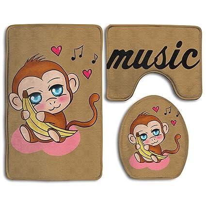 Amazon.com: YOYUPRO Cute Baby Monkey 3-Piece Perfect Plush Mats For ...