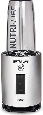 SOGO SS-5520 Nutri-Life Bullet Blender, 1200W, Kit Vasos Sin