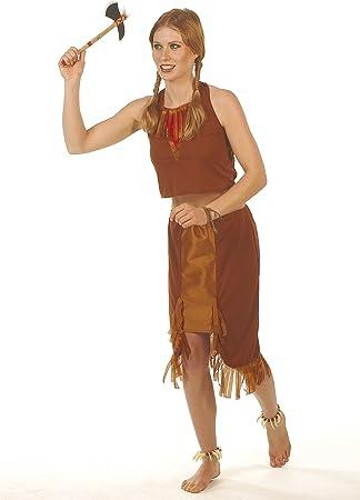 César - Disfraz de indio para mujer, talla 36 (E953-001): Amazon ...
