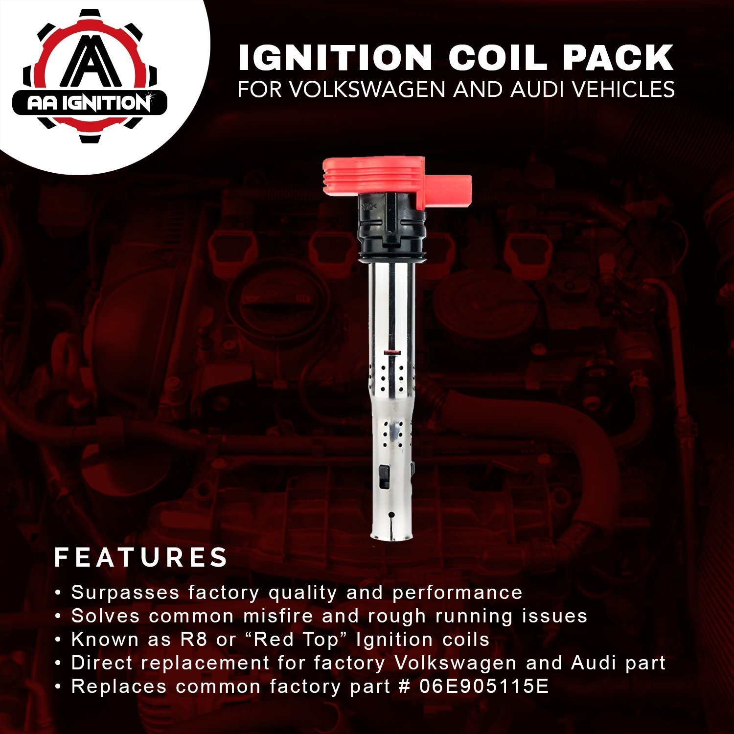 Ignition Coil Pack Replaces 06e905115e Fits 2006 Vw Gti Wiring Diagram Volkswagen Audi Vehicles Automotive