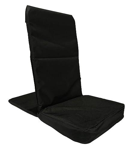 Back Jack Floor Chair (Original BackJack Chairs) - XL Size (Tuff Duck Material) (Black)