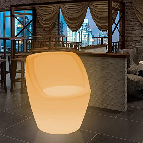 Magshion 16 Color Changing LED Light Up Furniture Chair Cube Ball Night Light Bar Stool Serving Tray Bucket Pot Square Chair