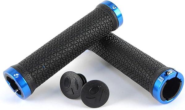 Lock-On Handlebar Grip MTB Mountain Bike BMX Hybrid 120mm //// Black