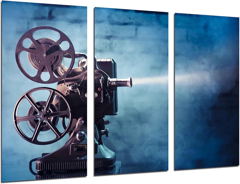 Cuadro Fotográfico Historia Cine Antiguo Hollywood, Proyector ...