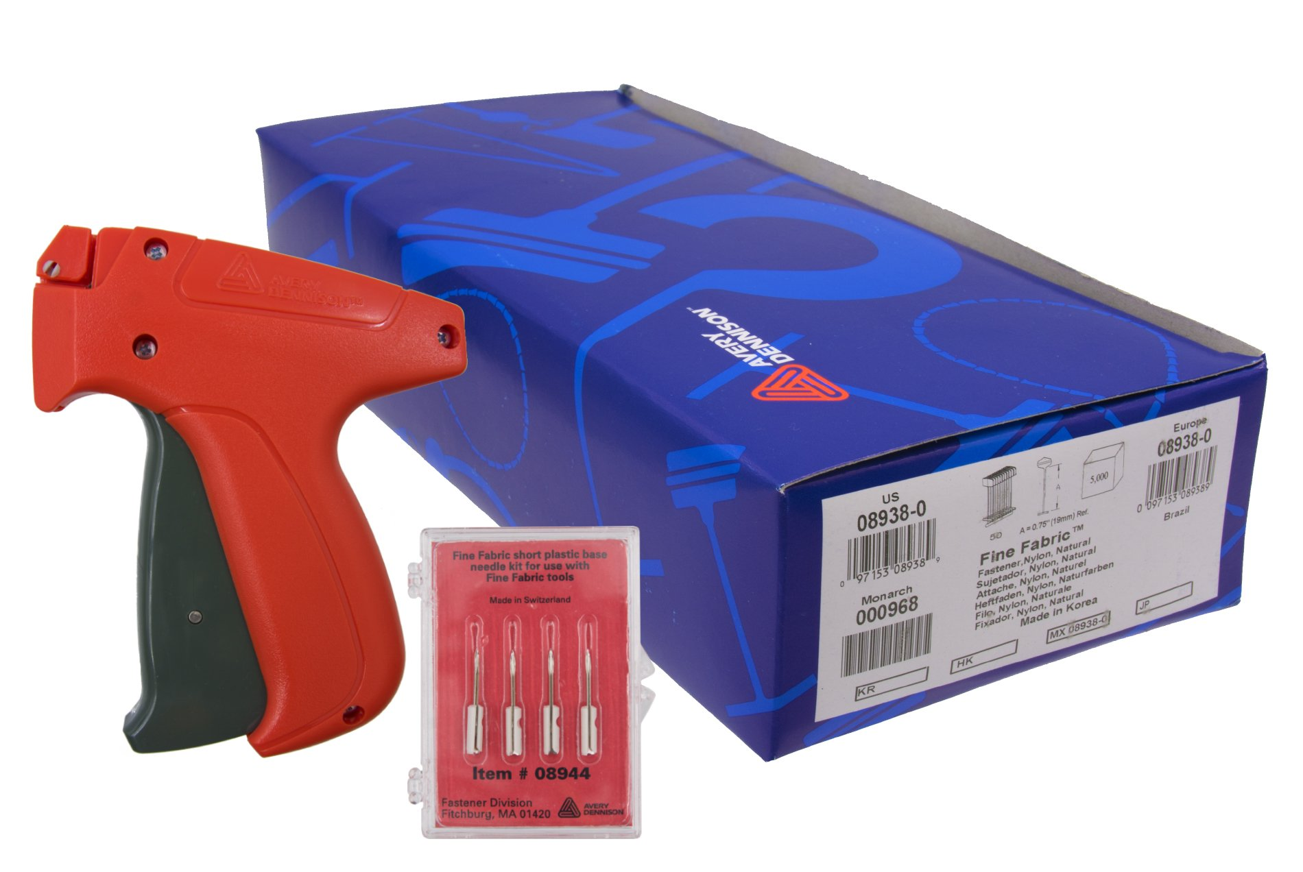 Avery Dennison Mark III 10312 Fine Tagging Gun with 5,000 Avery Dennison 3/4 Inch Barbs and 4 Avery Dennison Replacement Needles by Avery Dennison