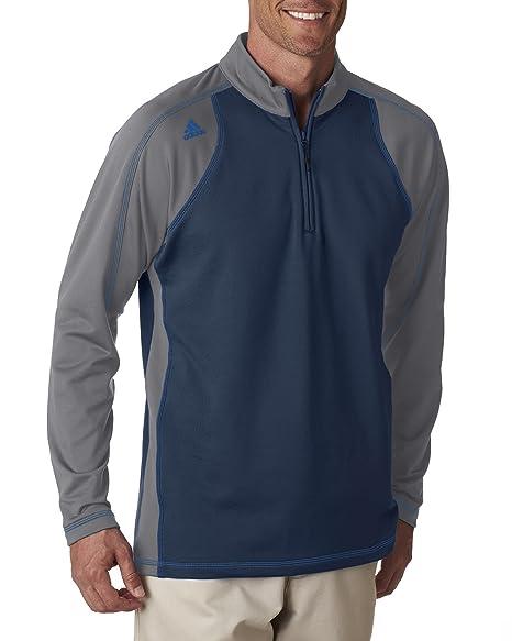 3598ca91798cca adidas Men s Golf Climawarm 3-Stripes Color Block 1 4-Zip Training Top