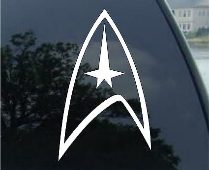 Crawford graphix star trek federation logo 4 die cut vinyl car decal sticker for car