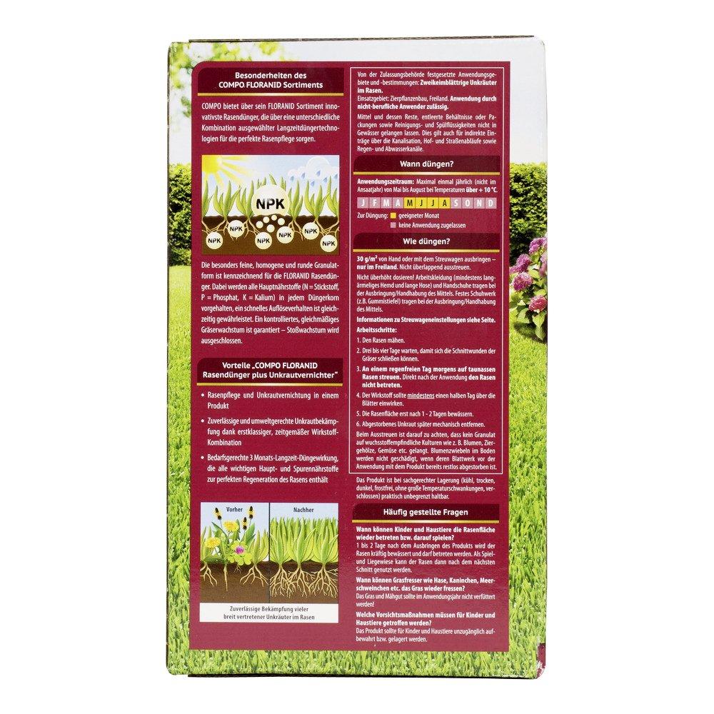 Compo Floranid Rasendunger Gegen Unkraut Moos Komplettpflege 2
