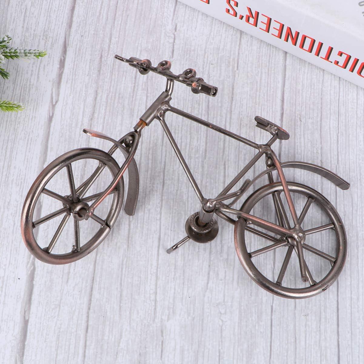 WINOMO Bicycle Model Metal Retro Creative Crafts Iron Bike Model Iron Bicycle Mold Old Bike Decor for Furnishing Home Decoration