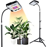 Grow Light with Stand,SUNICO Full Spectrum 150W,7000 lx LED lamp for Indoor Plants Growth, Standing Floor Grow Lamp with On/O