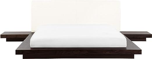 Futonbett Holzbett Bett 180x200 Cm Japan Design Lederbett