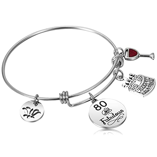 Image Unavailable Not Available For Color Hazado 80th Birthday Gifts Women Bracelet 1938 80 Years Old