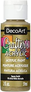 product image for DecoArt Crafter's Acrylic Paint, 2-Ounce, Spun Gold