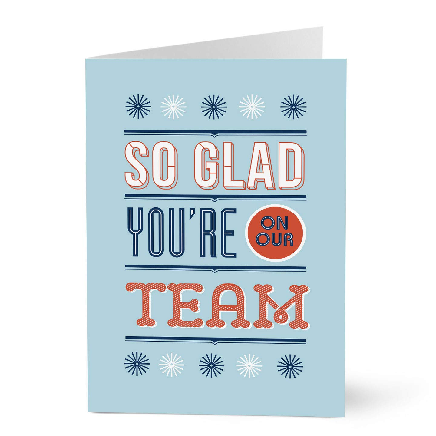 Hallmark Employee Appreciation Cards (Glad You're On Our Team) (Pack of 25 Greeting Cards)