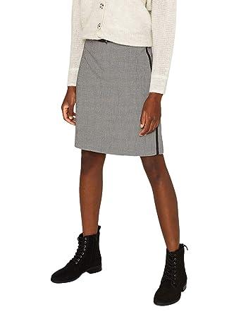 ESPRIT Collection 089eo1d005 Falda, Negro (Black 001), 38 (Talla ...