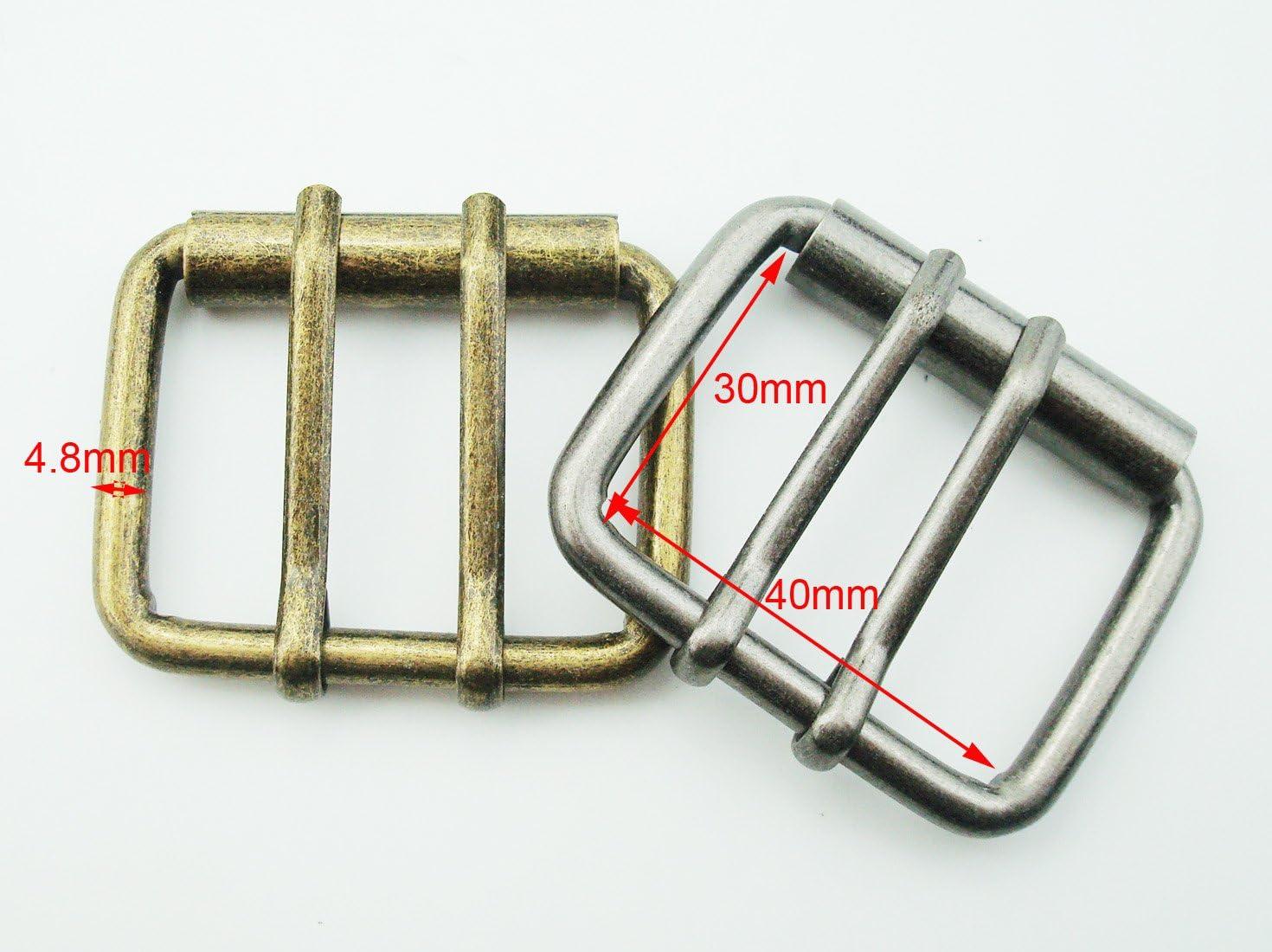 5 X Antique Silver Buckle 40mm Belt Strap Fastening