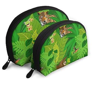967dd0f3c91c Tropical Rainforest Animals Pattern Multifunction Cosmetic Bag Travel Makeup  Bag Hanging Toiletry Bag Zippered Organiser Bathroom