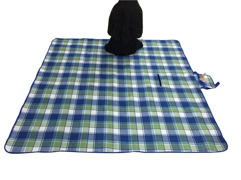 Outdoor Beständig Gegen Feuchtigkeit Acryl Die Ganze Familie Mit Praktischem Tragegriff Faltbar Wasserdichte Picknickmatte 200 X 200 Cm,Blue