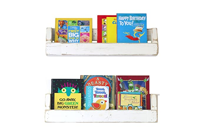 30 white distressed bookshelves - Distressed Bookshelves