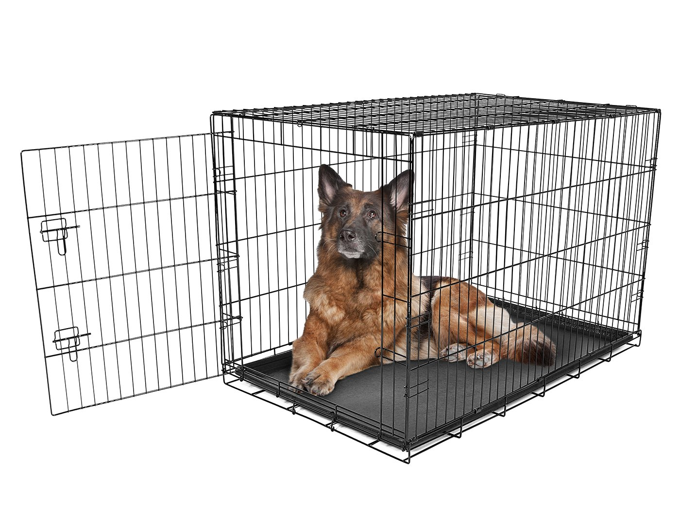 Carlson Pet Products SECURE AND FOLDABLE Single Door Metal Dog Crate, Extra Large