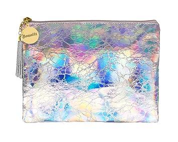 1c319e697a12 Amazon.com   Bewaltz Holographic Makeup Pouch Handbag Multifunctional  Clutch Bag Makeup Bag Cosmetic Bag Makeup Bag Toiletry Travel Bag Handy  Large Protable ...