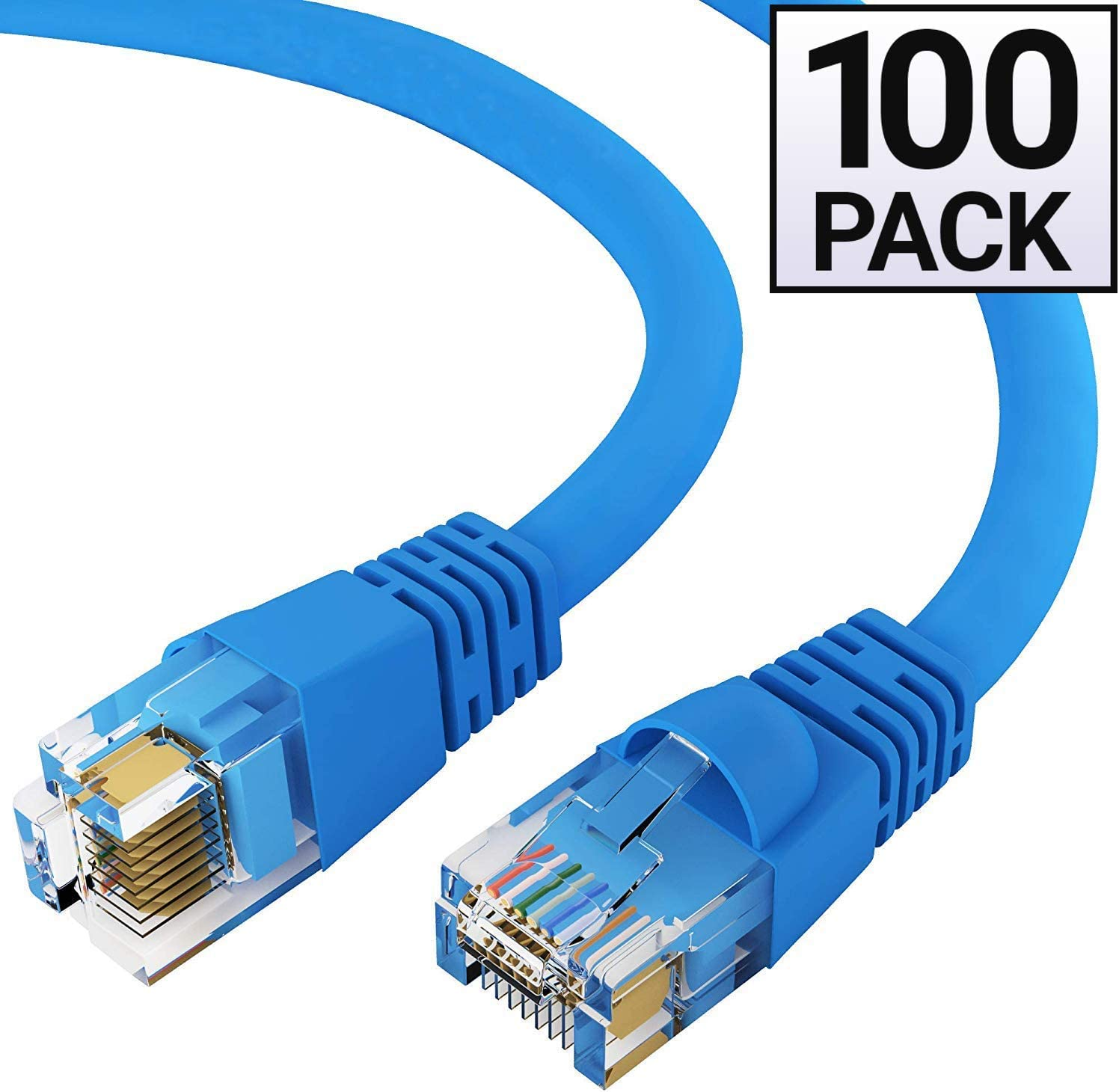 Molded Utp Cat6 Cable 24Awg 50U 10 Foot Blue