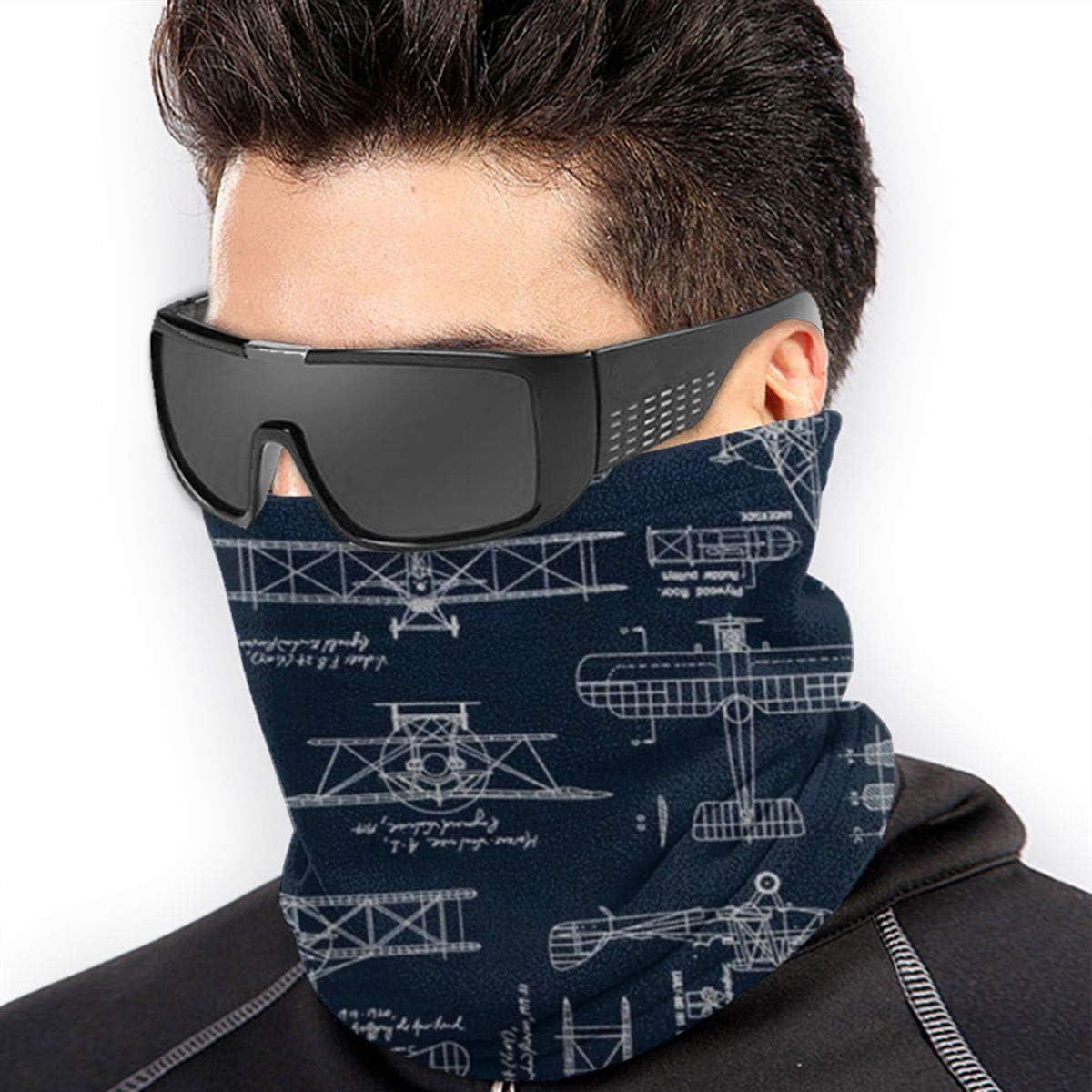Aviation Aviators Transportation Blue Neck Warmer Gaiter For Men Women Headband Face Mask Bandana Head Wrap Scarf Headwear Winter Balaclava For Ski Running Motorcycle