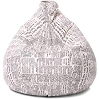 Ink Craft Paper Print Bean Bag Empty Cover Without Beans Multicolour, (XL)