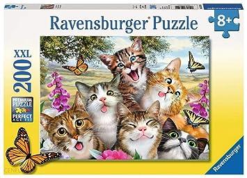 Ravensburger - Rompecabezas de 200 piezas (gatos): Amazon.es ...