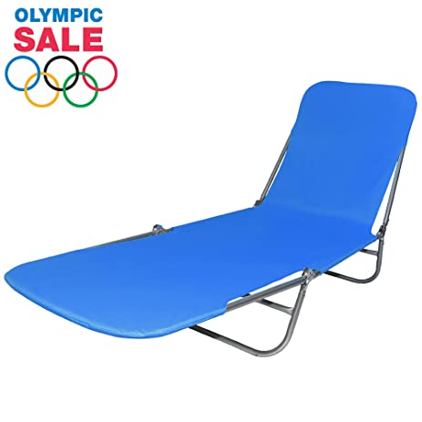 Premium Folding Lounger, Foldable Beach Bed: Lay Down U0026 Relax At The Beach,