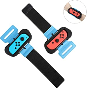 MoKo Wristbands for Nintendo Switch Just Dance 2020 and Zumba Burn It Up, 2Pack Comfortable Easy Using Adjustable Elastic Wrist Straps for Joy-Con Controller, Two Size Band for Adults and Kids