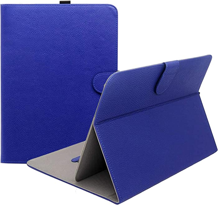 """ProCase Universal Folio Case for 9-10 inch Tablet, Leather Stand Protective Case Cover for 9"""" 10.1"""" Touchscreen Tablet with Multi-Angle Stand (Navy Blue)"""