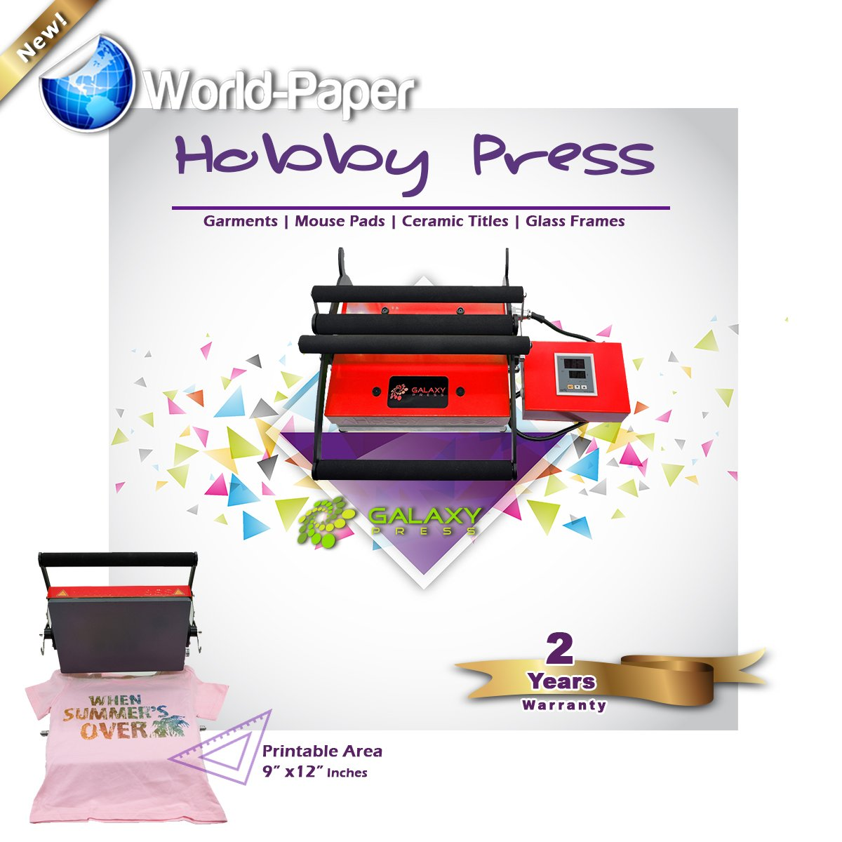 Heat Press Galaxy Hobby Designed for Portability and Reliability for customizing tshirts
