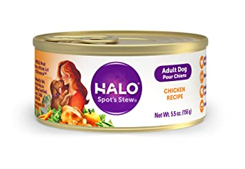 Amazon halo natural wet dog food chicken recipe pate 55 halo natural wet dog food chicken recipe pate 55 ounce can pack forumfinder Gallery