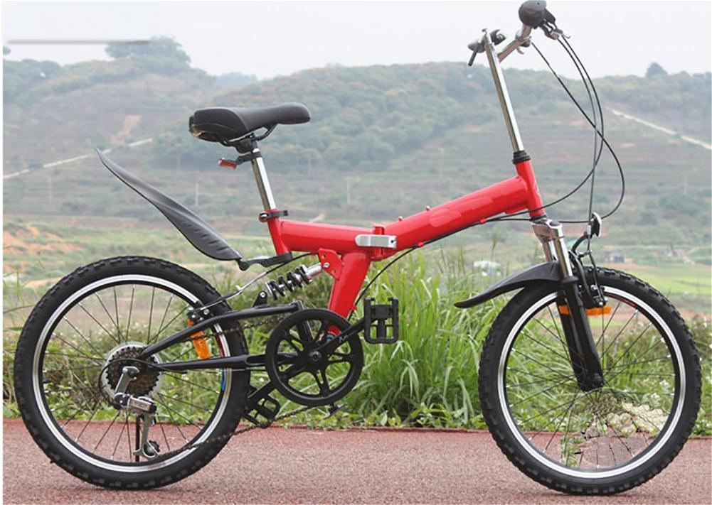MASLEID 20 pulgadas ultra-ligero plegable bicicleta de montaña en bicicleta , red: Amazon.es: Deportes y aire libre