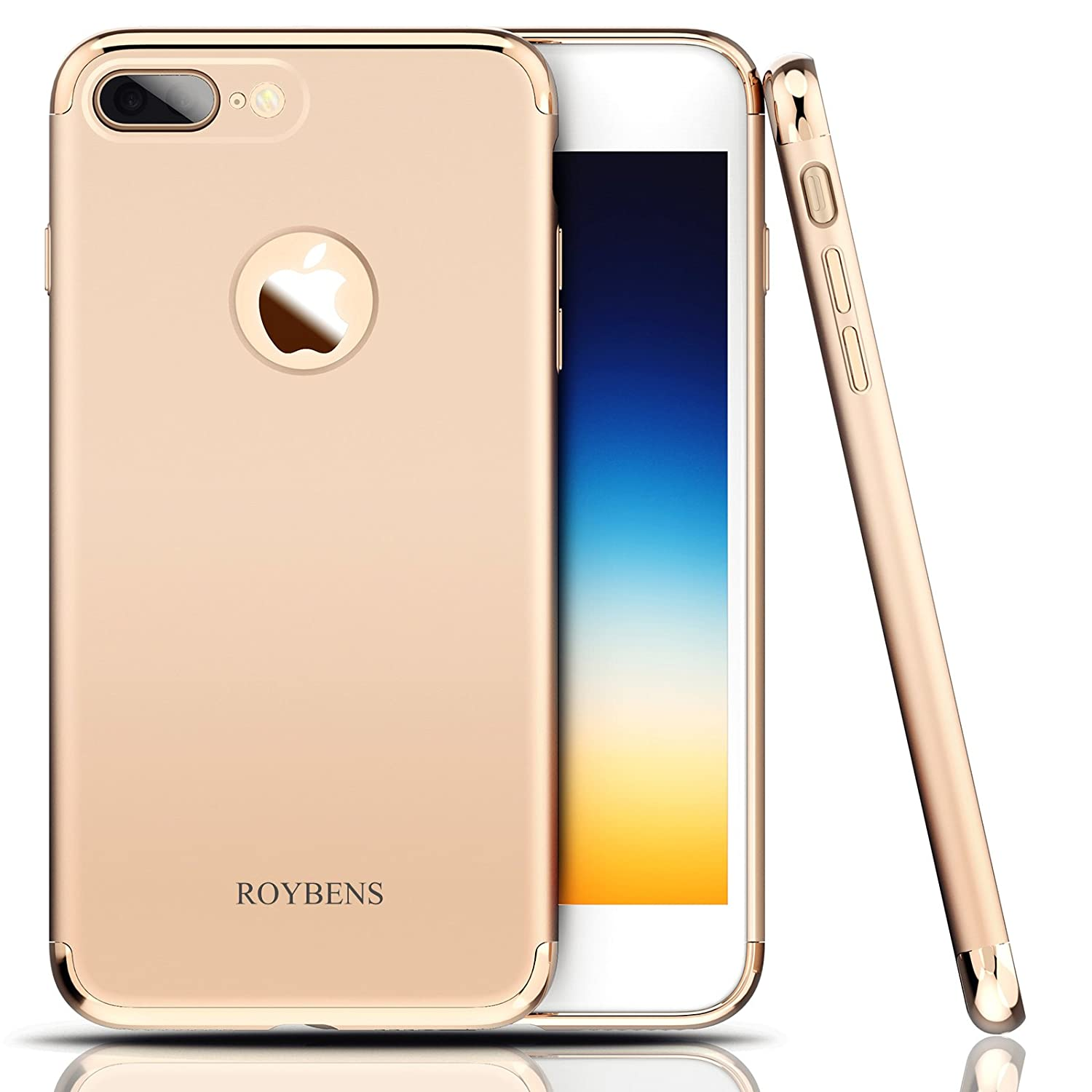 58c274dae1 Amazon.com: iPhone 7 Plus Case, Roybens; 3 In 1 Ultra Thin and Slim Hard  Case Coated Non Slip Matte Anti-Scratch Anti-fingerprint Shockproof Surface  with .