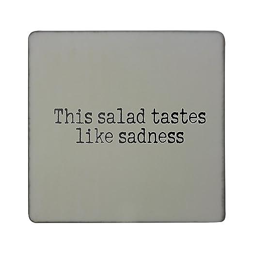 Compra Esta ensalada gustos como Tristeza rígido cuadrado imán ...