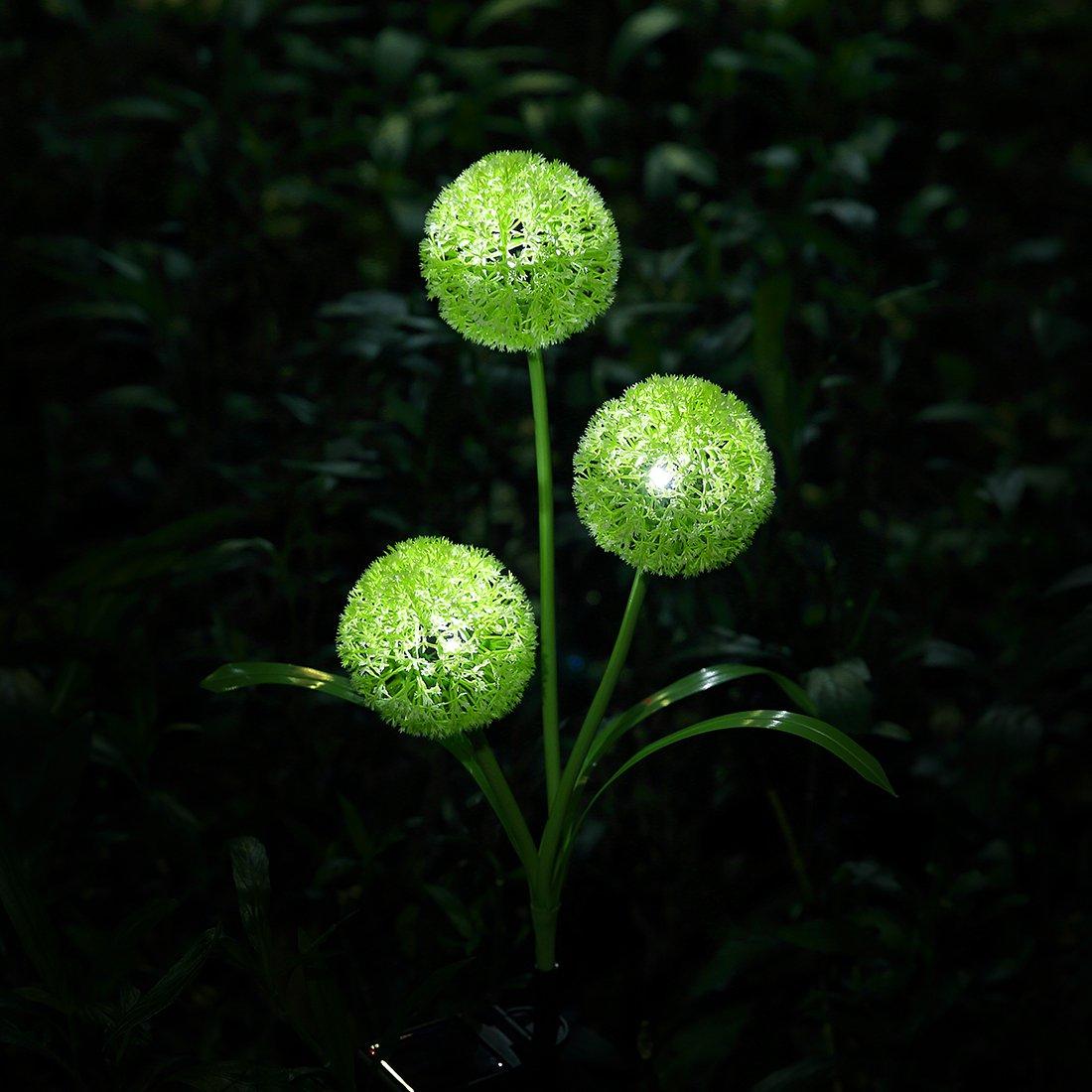 XLUX Outdoor Decorative Solar dandelion LED Lights, Green