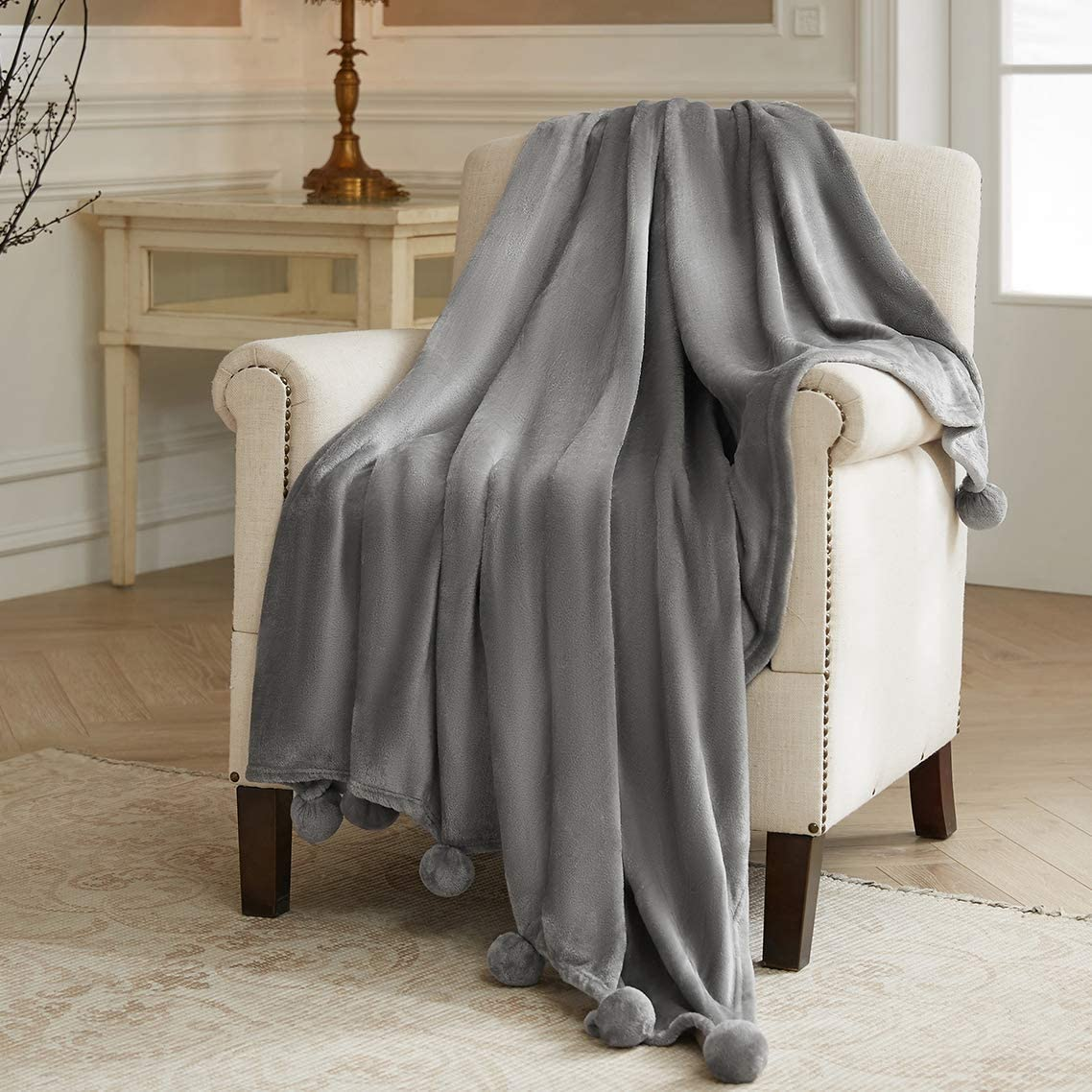 Blue Extra Soft Brushed Microfiber Size 50x60 Sedona House Polar Fleece Premium Bed Throw Blanket