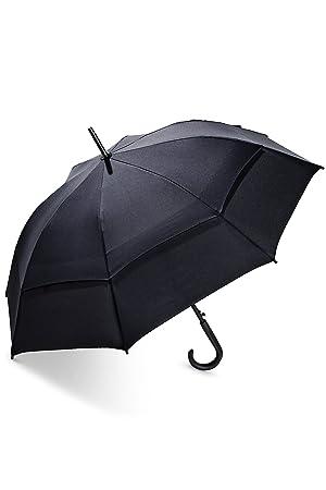 Coolibar Protección UV Paraguas, Unisex Adulto, 04108-001/99, Negro,