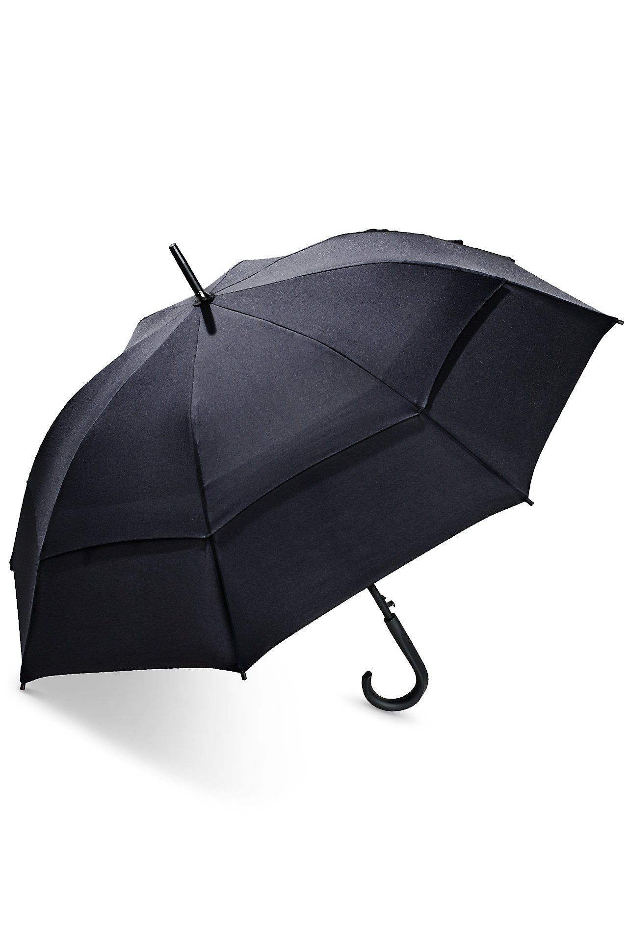 Coolibar UPF 50+ 48'' Titanium Fashion Umbrella - Sun Protective (One Size- Black)