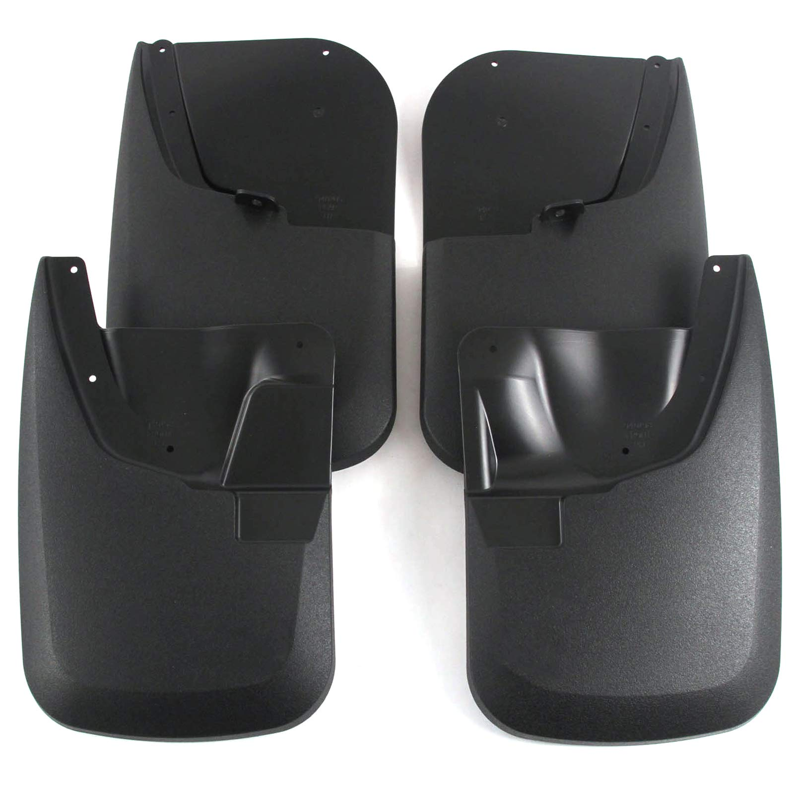 Red Hound Auto Heavy Duty Molded Mud Flaps Compatible with 2011-2016 Ford Super Duty F250/F350 Mud Guards Splash Front & Rear 4pc Set (for Trucks Without Fender Flares)